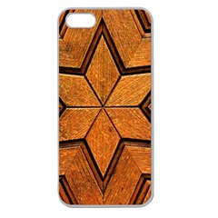 Wood Pattern Texture Surface Apple Seamless Iphone 5 Case (clear)
