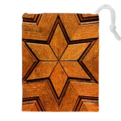 Wood Pattern Texture Surface Drawstring Pouch (xxl)