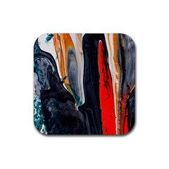 Art Modern Painting Background Rubber Coaster (square)