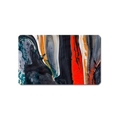Art Modern Painting Background Magnet (name Card) by Bejoart