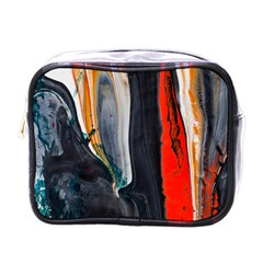 Art Modern Painting Background Mini Toiletries Bag (one Side)