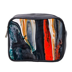Art Modern Painting Background Mini Toiletries Bag (two Sides)