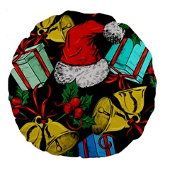 Christmas Gifts Gift Red Winter Large 18  Premium Round Cushions by Bejoart