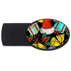 Christmas Gifts Gift Red Winter Usb Flash Drive Oval (4 Gb)