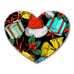 Christmas Gifts Gift Red Winter Heart Mousepads by Bejoart