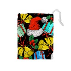 Christmas Gifts Gift Red Winter Drawstring Pouch (medium)