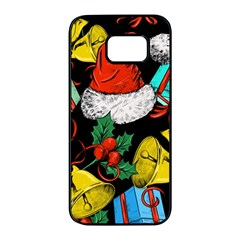 Christmas Gifts Gift Red Winter Samsung Galaxy S7 Edge Black Seamless Case