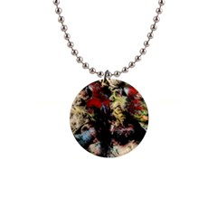 Ara Bird Parrot Animal Art 1  Button Necklace