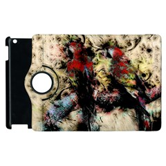Ara Bird Parrot Animal Art Apple Ipad 2 Flip 360 Case