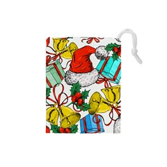 Christmas Gifts Gift Red December Drawstring Pouch (small)