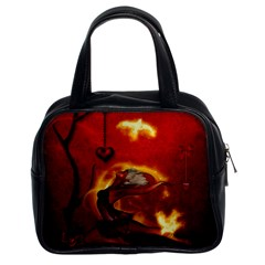 Wonderful Fairy Of The Fire With Fire Birds Classic Handbag (two Sides)
