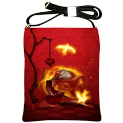 Wonderful Fairy Of The Fire With Fire Birds Shoulder Sling Bag