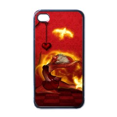 Wonderful Fairy Of The Fire With Fire Birds Apple Iphone 4 Case (black)