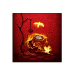 Wonderful Fairy Of The Fire With Fire Birds Satin Bandana Scarf