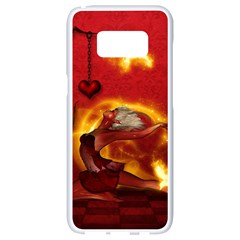 Wonderful Fairy Of The Fire With Fire Birds Samsung Galaxy S8 White Seamless Case