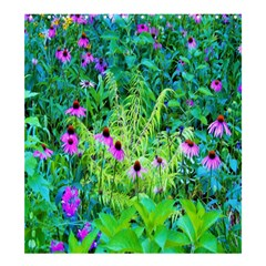 Purple Coneflower Garden With Tiger Eye Tree Shower Curtain 66  X 72  (large)