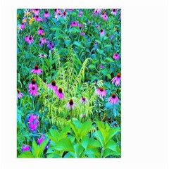 Purple Coneflower Garden With Tiger Eye Tree Large Garden Flag (two Sides)