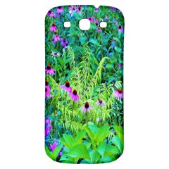 Purple Coneflower Garden With Tiger Eye Tree Samsung Galaxy S3 S Iii Classic Hardshell Back Case by myrubiogarden