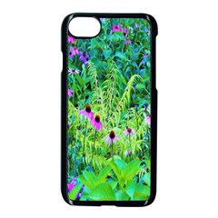 Purple Coneflower Garden With Tiger Eye Tree Apple Iphone 8 Seamless Case (black) by myrubiogarden