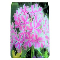 Hot Pink And White Peppermint Twist Garden Phlox Removable Flap Cover (l) by myrubiogarden