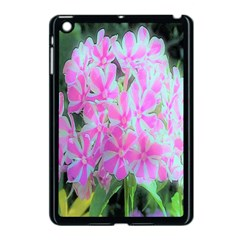 Hot Pink And White Peppermint Twist Garden Phlox Apple Ipad Mini Case (black)