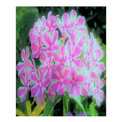 Hot Pink And White Peppermint Twist Garden Phlox Shower Curtain 60  X 72  (medium)
