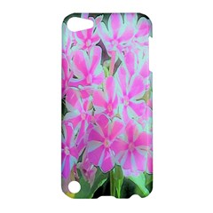 Hot Pink And White Peppermint Twist Garden Phlox Apple Ipod Touch 5 Hardshell Case by myrubiogarden