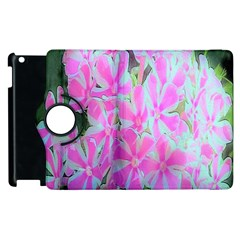 Hot Pink And White Peppermint Twist Garden Phlox Apple Ipad 3/4 Flip 360 Case