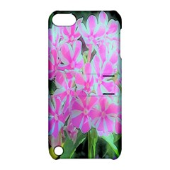Hot Pink And White Peppermint Twist Garden Phlox Apple Ipod Touch 5 Hardshell Case With Stand by myrubiogarden