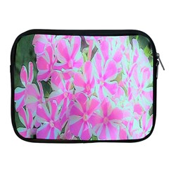 Hot Pink And White Peppermint Twist Garden Phlox Apple Ipad 2/3/4 Zipper Cases by myrubiogarden
