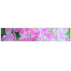 Hot Pink And White Peppermint Twist Garden Phlox Large Flano Scarf  by myrubiogarden