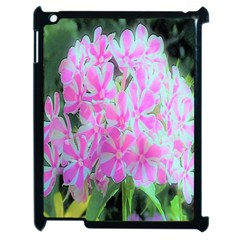 Hot Pink And White Peppermint Twist Garden Phlox Apple Ipad 2 Case (black)