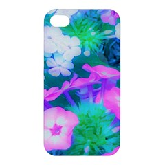Pink, Green, Blue And White Garden Phlox Flowers Apple Iphone 4/4s Hardshell Case by myrubiogarden