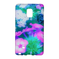 Pink, Green, Blue And White Garden Phlox Flowers Samsung Galaxy Note Edge Hardshell Case by myrubiogarden