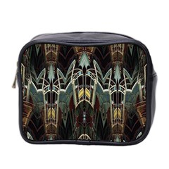 Modern Industrial Abstract Rust Pattern Mini Toiletries Bag (two Sides)
