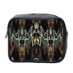 Modern Industrial Abstract Rust Pattern Mini Toiletries Bag (Two Sides) Front