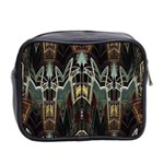 Modern Industrial Abstract Rust Pattern Mini Toiletries Bag (Two Sides) Back