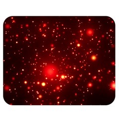 Firework Star Light Design Double Sided Flano Blanket (medium)