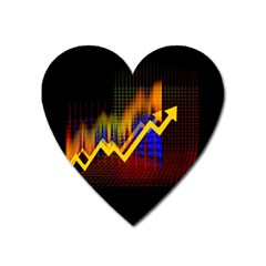 Logo Finance Economy Statistics Heart Magnet by Bejoart