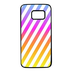 Abstract Lines Mockup Oblique Samsung Galaxy S7 Black Seamless Case by Bejoart