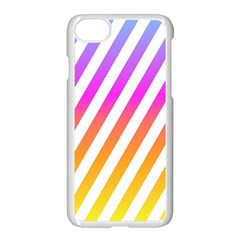 Abstract Lines Mockup Oblique Apple Iphone 8 Seamless Case (white)