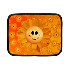 Sun Sunflower Smile Summer Netbook Case (small)