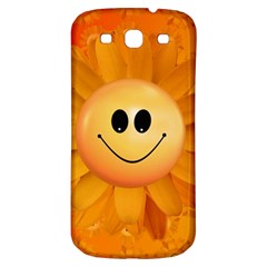 Sun Sunflower Smile Summer Samsung Galaxy S3 S Iii Classic Hardshell Back Case