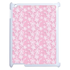 Pink Floral Background Apple Ipad 2 Case (white)
