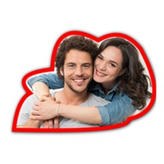 Couple Photo Canvases Die Cut Sticker
