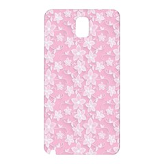 Pink Floral Background Samsung Galaxy Note 3 N9005 Hardshell Back Case by Bejoart