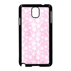 Pink Floral Background Samsung Galaxy Note 3 Neo Hardshell Case (black) by Bejoart