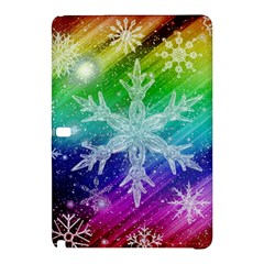 Christmas Snowflake Background Samsung Galaxy Tab Pro 10 1 Hardshell Case by Bejoart