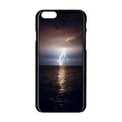 Lightning Strike  Apple Iphone 6/6s Black Enamel Case by StarvingArtisan
