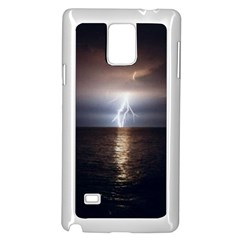 Lightning Strike  Samsung Galaxy Note 4 Case (white)